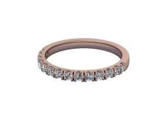 Half-Set Diamond Wedding Ring in 18ct. Rose Gold: 2.1mm. wide with Round Split Claw Set Diamonds-W88-04045.21