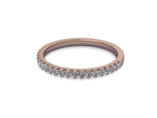 Half-Set Diamond Wedding Ring in 18ct. Rose Gold: 1.7mm. wide with Round Shared Claw Set Diamonds-W88-04215.17