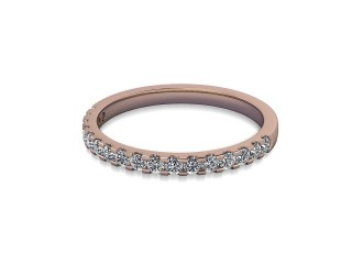 Half-Set Diamond Wedding Ring in 18ct. Rose Gold: 1.9mm. wide with Round Shared Claw Set Diamonds-W88-04215.19