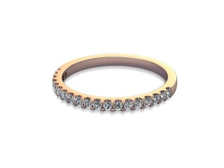 Half-Set Diamond Wedding Ring in 18ct. Rose Gold: 1.7mm. wide with Round Shared Claw Set Diamonds-W88-04216.17