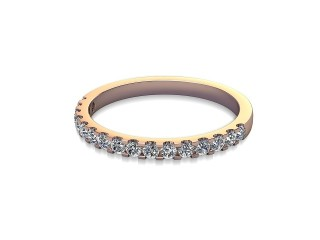 Half-Set Diamond Wedding Ring in 18ct. Rose Gold: 1.9mm. wide with Round Shared Claw Set Diamonds-W88-04216.19