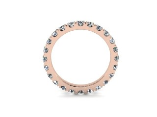 All Diamond Wedding Ring 1.40cts. in 9ct. Rose Gold - 9