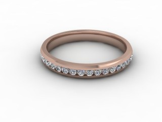 0.50cts. Full 18ct Rose Gold wedding Ring-w88-04715