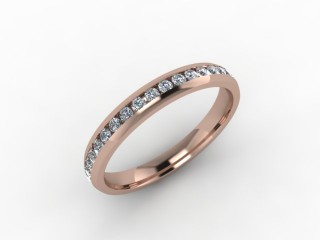 0.50cts. Full 9ct Rose Gold wedding Ring