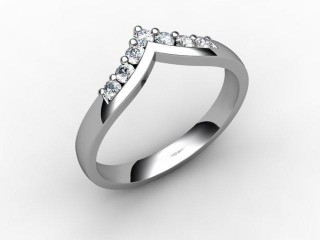All Diamond Wedding Ring 0.25cts. in 18ct. White Gold