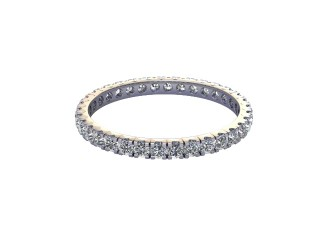 Full-Set Diamond Wedding Ring in 18ct. White Gold: 1.9mm. wide with Round Split Claw Set Diamonds-W88-05044.19