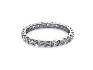 Full-Set Diamond Wedding Ring in 18ct. White Gold: 2.1mm. wide with Round Split Claw Set Diamonds-W88-05044.21