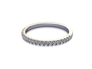 Half-Set Diamond Wedding Ring in 18ct. White Gold: 1.7mm. wide with Round Split Claw Set Diamonds-W88-05045.17