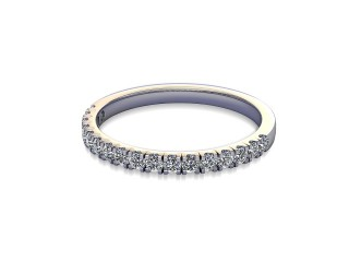 Half-Set Diamond Wedding Ring in 18ct. White Gold: 1.9mm. wide with Round Split Claw Set Diamonds-W88-05045.19