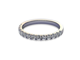 Half-Set Diamond Wedding Ring in 18ct. White Gold: 2.1mm. wide with Round Split Claw Set Diamonds-W88-05045.21