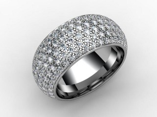 All Diamond Wedding Ring 2.16cts. in 18ct. White Gold