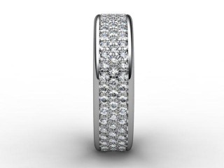 All Diamond Wedding Ring 0.77cts. in 18ct. White Gold