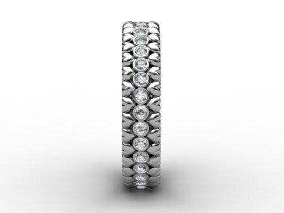All Diamond Wedding Ring 0.34cts. in 18ct. White Gold