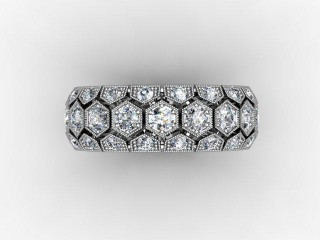 All Diamond Wedding Ring 2.00cts. in 18ct. White Gold