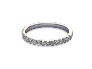 Half-Set Diamond Wedding Ring in 18ct. White Gold: 1.9mm. wide with Round Shared Claw Set Diamonds-W88-05215.19