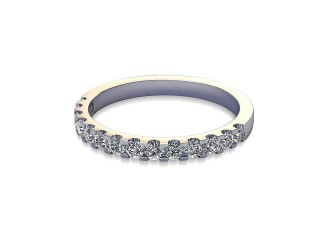 Half-Set Diamond Wedding Ring in 18ct. White Gold: 2.1mm. wide with Round Shared Claw Set Diamonds-W88-05216.21