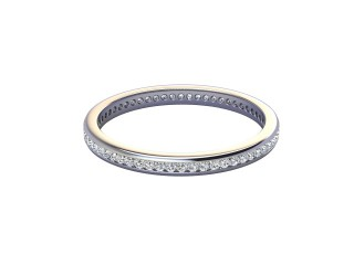Full-Set Diamond Wedding Ring in 18ct. White Gold: 2.0mm. wide with Round Channel-set Diamonds-W88-05308.20