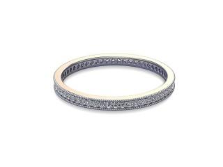 Full-Set Diamond Wedding Ring in 18ct. White Gold: 1.8mm. wide with Round Milgrain-set Diamonds-W88-05335.18