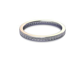 Full-Set Diamond Wedding Ring in 18ct. White Gold: 2.0mm. wide with Round Milgrain-set Diamonds-W88-05349.20