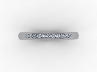 0.13cts. 1/4 18ct White Gold Wedding Ring Ring