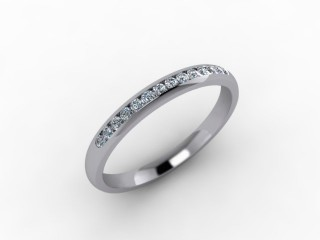 0.16cts. 1/3 18ct White Gold Wedding Ring Ring