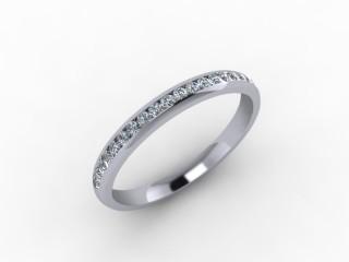 0.23cts. 1/2 18ct White Gold Wedding Ring Ring