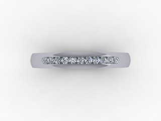 0.16cts. 1/4 18ct White Gold Wedding Ring Ring