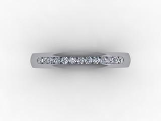 0.18cts. 1/3 18ct White Gold Wedding Ring Ring
