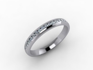 0.26cts. 1/2 18ct White Gold Wedding Ring