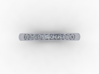 0.14cts. 1/3 18ct White Gold Wedding Ring Ring