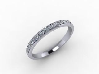 0.21cts. 1/2 18ct White Gold Wedding Ring Ring