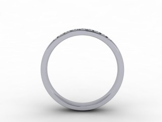 0.20cts. 1/4 18ct White Gold Wedding Ring Ring