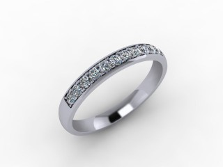 0.26cts. 1/3 18ct White Gold Wedding Ring Ring