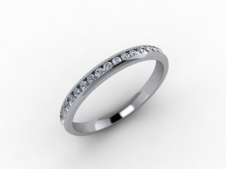 0.44cts. Full 18ct White Gold Wedding Ring Ring