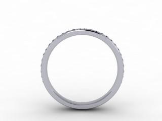 0.30cts. 3/4 18ct White Gold Wedding Ring Ring
