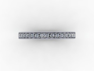 0.39cts. Full 18ct White Gold Wedding Ring Ring - 9