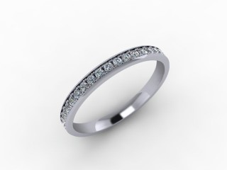 0.39cts. Full 18ct White Gold Wedding Ring Ring