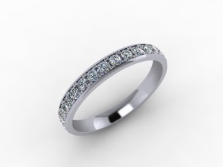 0.62cts. Full 18ct White Gold Wedding Ring Ring