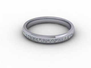 0.39cts. 1/2 18ct White Gold Wedding Ring