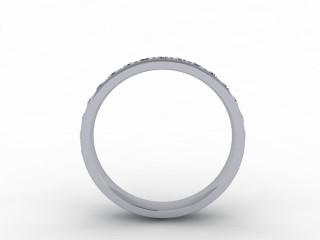 1.12cts. Full 18ct White Gold Wedding Ring Ring
