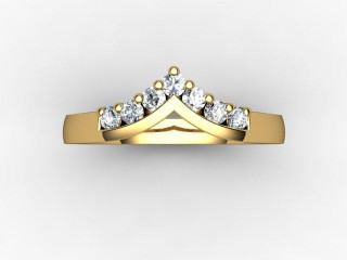 All Diamond Wedding Ring 0.25cts. in 18ct. Yellow Gold - 9