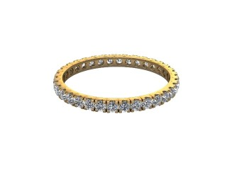 Full-Set Diamond Wedding Ring in 18ct. Yellow Gold: 1.9mm. wide with Round Split Claw Set Diamonds-W88-18044.19