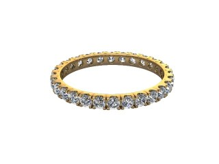 Full-Set Diamond Wedding Ring in 18ct. Yellow Gold: 2.1mm. wide with Round Split Claw Set Diamonds-W88-18044.21