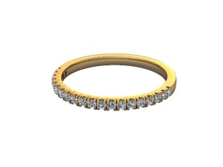 Half-Set Diamond Wedding Ring in 18ct. Yellow Gold: 1.7mm. wide with Round Split Claw Set Diamonds-W88-18045.17