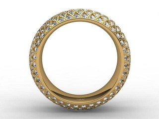 All Diamond Wedding Ring 2.16cts. in 18ct. Yellow Gold