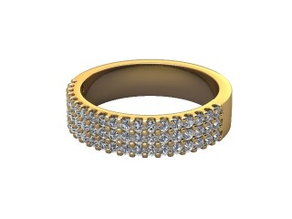 Half-Set Diamond Wedding Ring in 18ct. Yellow Gold: 4.7mm. wide with Round Shared Claw Set Diamonds-W88-18357.47
