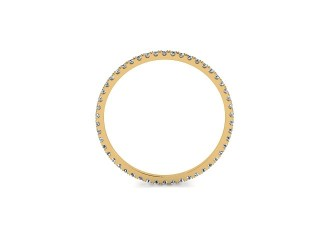 All Diamond Wedding Ring 0.20cts. in 18ct. Yellow Gold