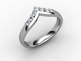 All Diamond Wedding Ring 0.25cts. in Palladium