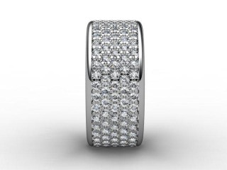 All Diamond Wedding Ring 1.20cts. in Palladium