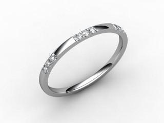All Diamond Wedding Ring 0.18cts. in Palladium